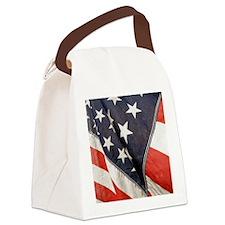 American Flag, Vintage, Canvas Lunch Bag