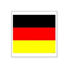 "German Flag Square Sticker 3"" x 3"""