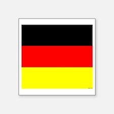 "German Flag Square Sticker 3"" x 3"""