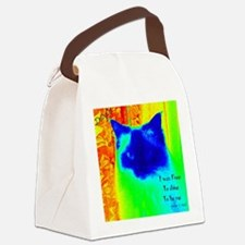 DollyCat Neon Verse - Ragdoll Cat Canvas Lunch Bag