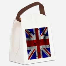 Union Jack, Distressed, Canvas Lunch Bag