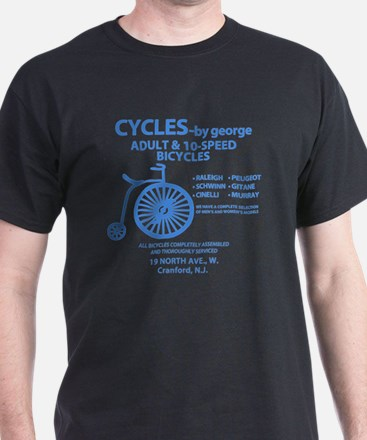Cycles_blue on white T-Shirt
