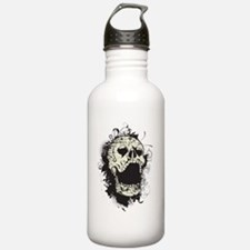 Vintage Scary Skull Water Bottle