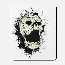 Vintage Scary Skull Mousepad