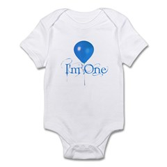 I'm One - Blue Infant Bodysuit