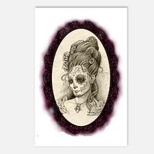 Maroon Dia de los Muertos Postcards (Package of 8)