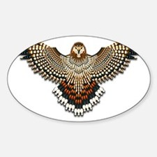Beadwork Red-Tailed Hawk Decal