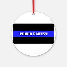 Proud Police Parent Ornament (Round)