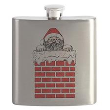 Santa in the Chimney Flask