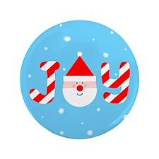 """Christmas Joy 3.5"""" Button"""