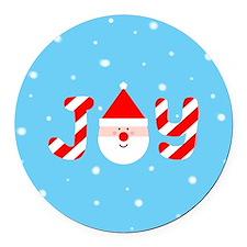 Christmas Joy Round Car Magnet