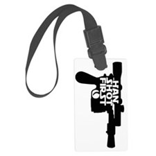 cropped 2 black Luggage Tag
