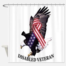 Disabled Veteran Eagle and Ribbon Shower Curtain