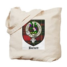 Burnett Clan Crest Tartan Tote Bag