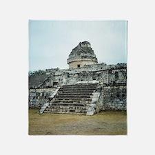 Caracol, Chichen Itza, Mexico Throw Blanket