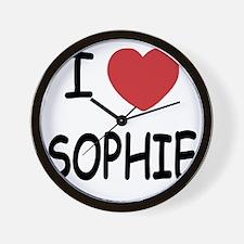 I heart Sophie Wall Clock