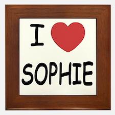 I heart Sophie Framed Tile