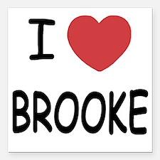 "I heart Brooke Square Car Magnet 3"" x 3"""