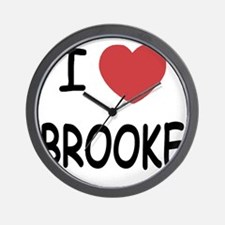 I heart Brooke Wall Clock