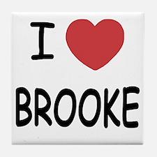 I heart Brooke Tile Coaster