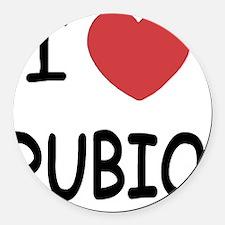 I heart Rubio Round Car Magnet