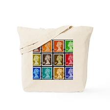 UK Stamps Tote Bag