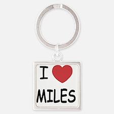 I heart miles Square Keychain