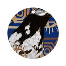 A Bird Of The Serengeti Round Ornament