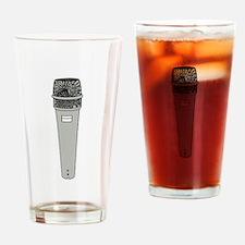 Grey Microphone Drinking Glass