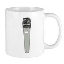 Grey Microphone Mugs