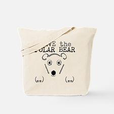 Save The Polar Bear Tote Bag