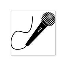 Black Microphone Sticker