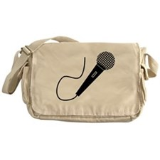 Black Microphone Messenger Bag