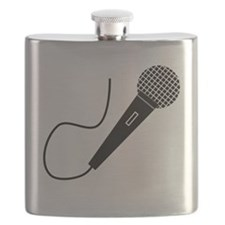Black Microphone Flask