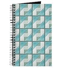 Attic Window Mint Green  Blue Quilt Blocks Journal