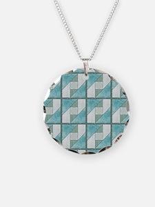 Attic Window Mint Green  Blu Necklace