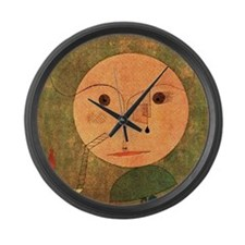 Klee - Error on Green, Paul Klee  Large Wall Clock