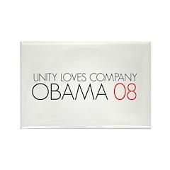 OBAMA 08-UNITY LOVES COMPANY Rectangle Magnet
