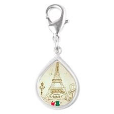 Gummy Bears in Paris Silver Teardrop Charm