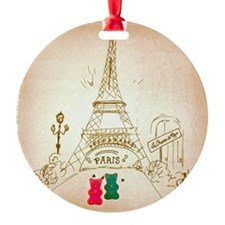 Gummy Bears in Paris Ornament