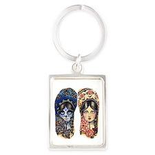 Sombrero Pair for thongs Portrait Keychain