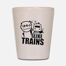 I Like Trains! Shot Glass