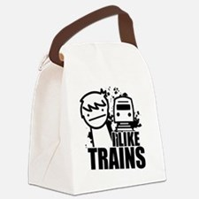 I Like Trains! Canvas Lunch Bag