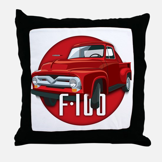 Second generation Ford F-100 Throw Pillow