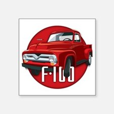 "Second generation Ford F-10 Square Sticker 3"" x 3"""