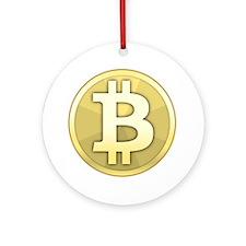 Bitcoin Coin Round Ornament
