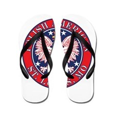 St. Louis Missouri Polish Flip Flops