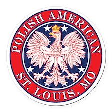 St. Louis Missouri Polish Round Car Magnet