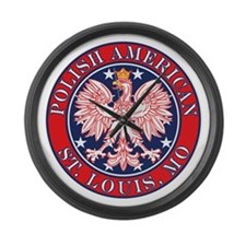St. Louis Missouri Polish Large Wall Clock