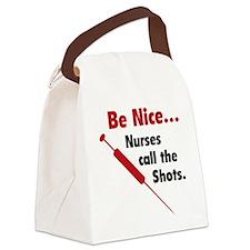 NurseShotsNice1F Canvas Lunch Bag